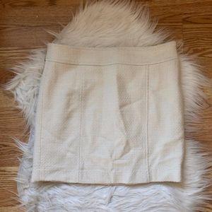 Banana Republic White Wool Mini Skirt 8